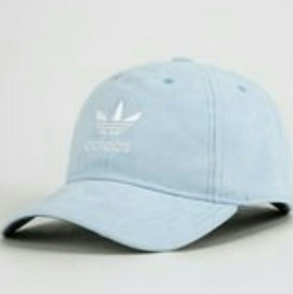 Suede Adidas Originals Light Blue Trefoil Cap 0585136fa997